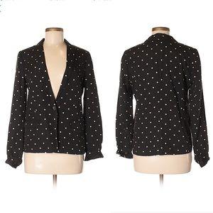 Buckley Tailors for J. Crew black polka dot blazer